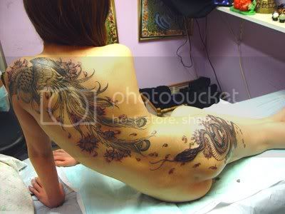 back peacock tattoo Pictures, Images and Photos
